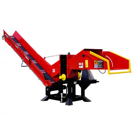 Holzhackmaschine WOM Model R-120 + Taśmociąg 2,3m