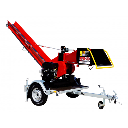 Model RPS-120 (27 KM) + Taśmociąg 3m + Obrotnica 360° + Przyczepka platformowa