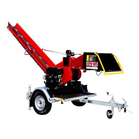Model RPS-120 (16 KM) + Taśmociąg 2,3m + Obrotnica 360° + Przyczepka platformowa
